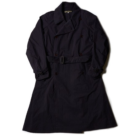 CROSS TRENCH COAT_NAVY
