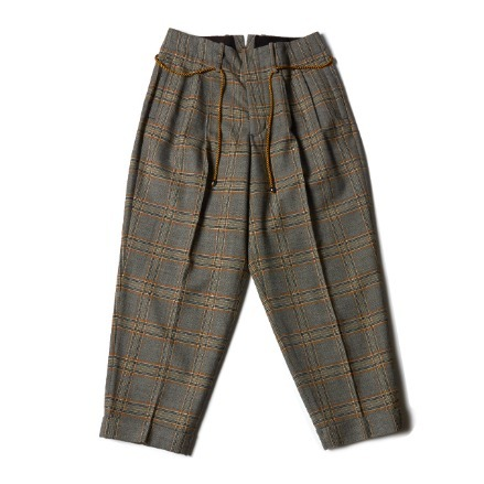BELTED PANTS_CHECK