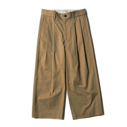 2 TUCK WIDE PANTS (TYPE A)_BEIGE
