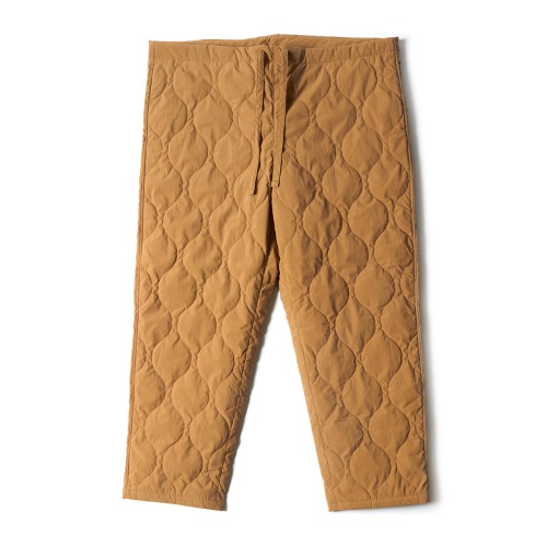 RT39MP02 QUILTED DRAWSTRING PANTS_KHAKI