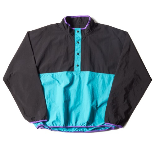 SNAP PULLOVER_TURQUOISE/BLACK