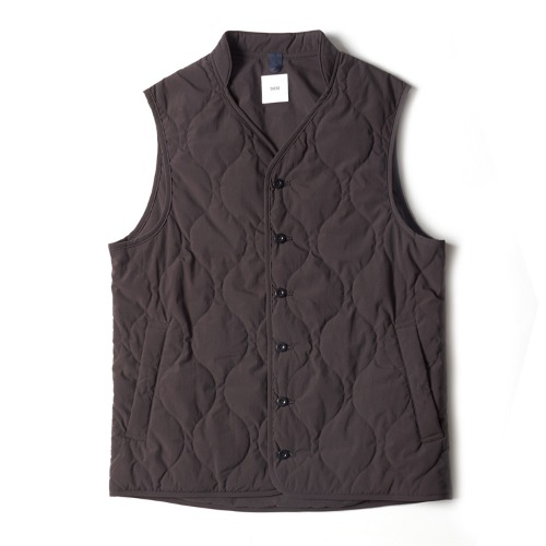 RT39MV01 QUILTED LINER VEST_GRAY