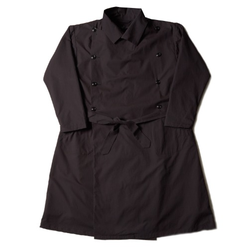 FRENCH ARMY TRENCH COAT_BLACK