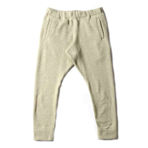 KNIT FLEECE SLIM PANT_OATMEAL