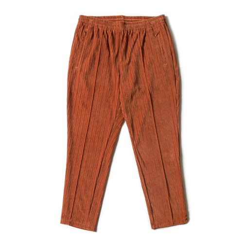 STRIPED TRACK WIDE PANT_BROWN