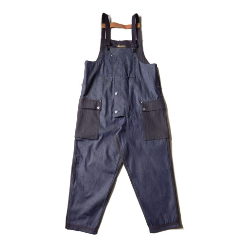 LYBRO NAVAL DUNGAREE PIG HER CO_DARK NAVY