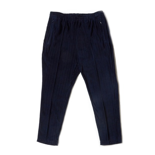 STRIPED TRACK WIDE PANT_NAVY