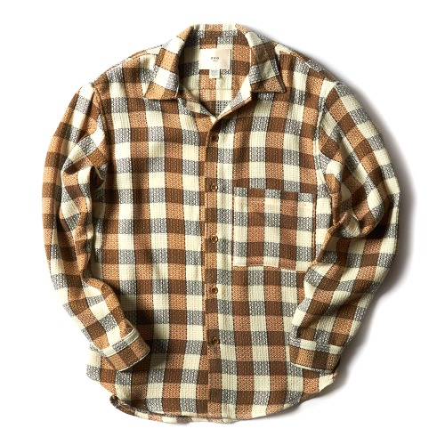 BIG POCKET SHIRT_CREAM CHECK