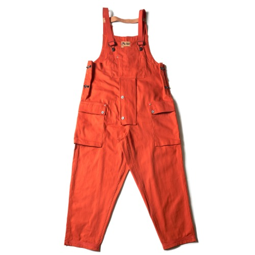 LYBRO NAVAL DUNGAREE PIG HER CO_DK ORANGE