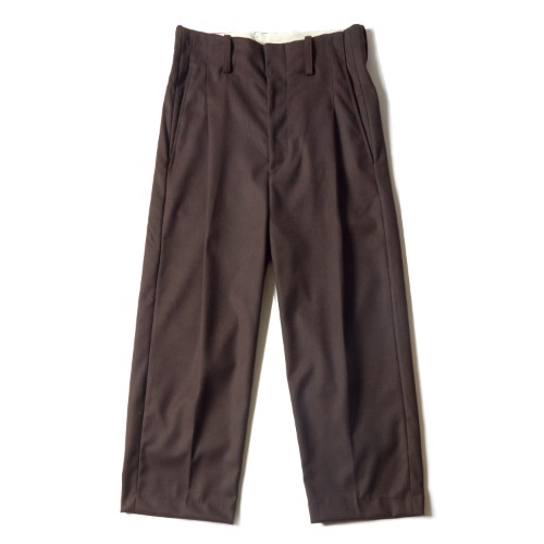 PLEAT PANTS_BROWN