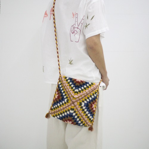 CROTCHET BAG_MULTI COLOUR