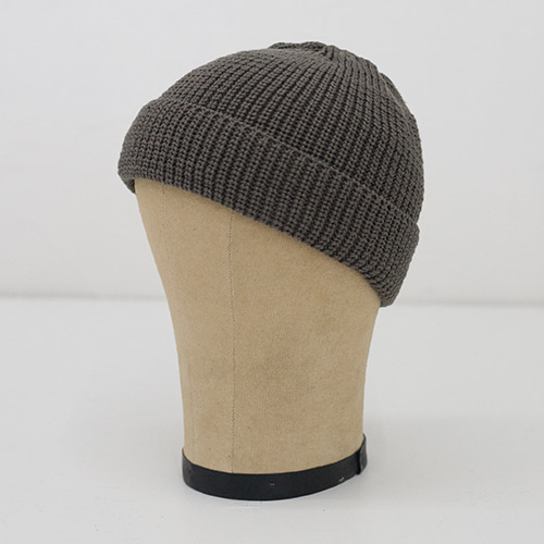 KNIT CAP SHORT_TAUPE