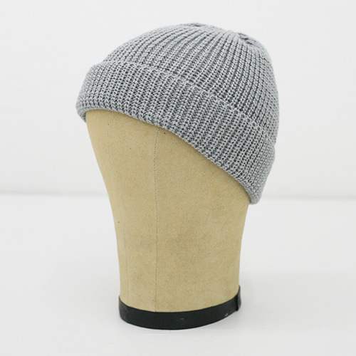 KNIT CAP SHORT_GREY