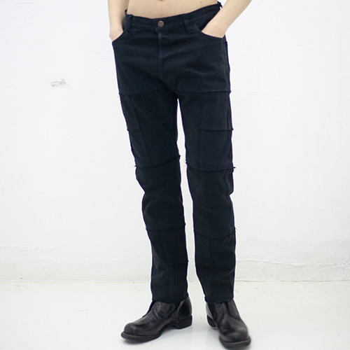 RE-SUGGESTION DICE GAUCHO JEANS_BLACK