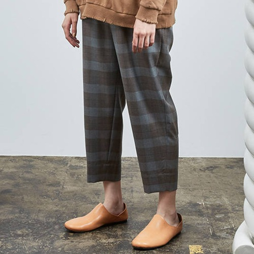ASIDE EASY EASY SLACKS_GREY&BROWN