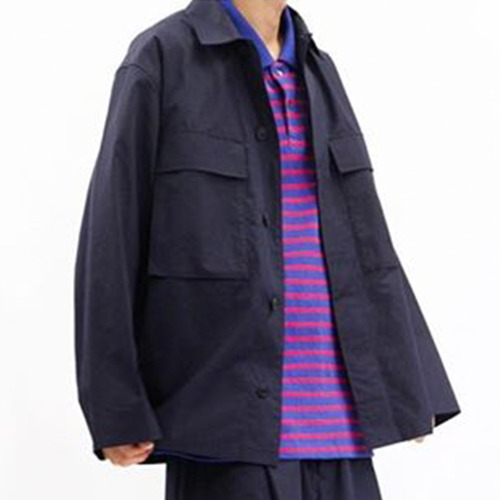 COTTON SHIRTS JACKET TYPE B_NAVY