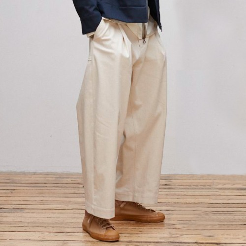 BLAKE NATURAL DENIM VOLUME PANTS_ECRU