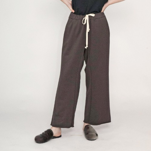 SUPIMA COTTON EASY PANTS_BROWN