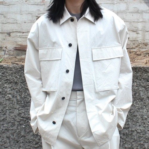COTTON SHIRTS JACKET TYPE A_IVORY