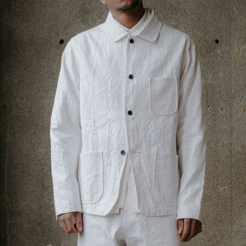 THREE POCKET JACKET_WHITE