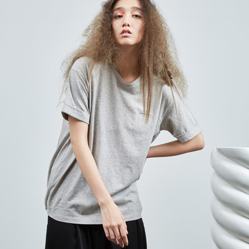 S/S BALLOON T-SHIRTS_GREY