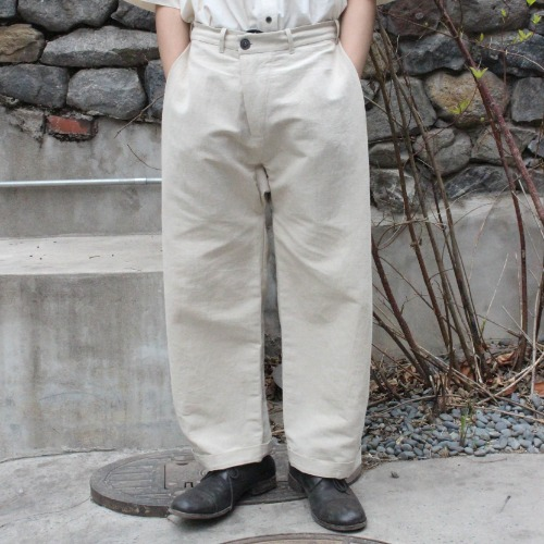(EXCLUSIVE) TROUSERS#46 - NATURAL BAMBOO CLOTH