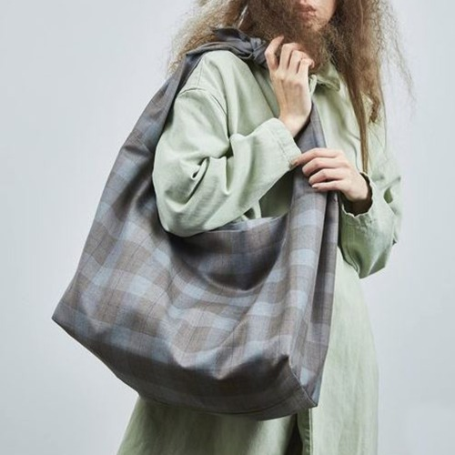 TOTE BAG_GREY/BROWN