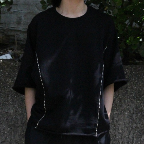 WESTERN TAPE T-SHIRTS_BLACK