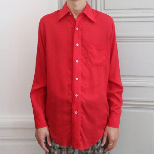 FLARE COLLAR SHIRT_RED