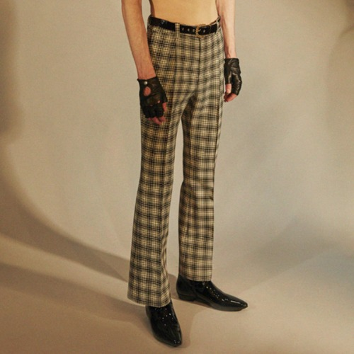 FLARE TROUSERS_CHECK