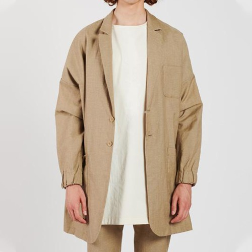 LOOSE FIT COAT_SAND