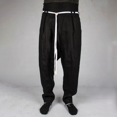 SMARI HIGH WAIST TROUSERS_BLACK