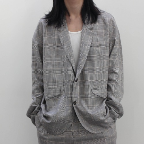 DROP 2B JACKET_GLAN CHECK BEIGE