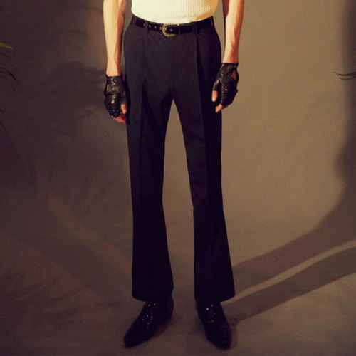 FLARE TROUSERS_BLACK