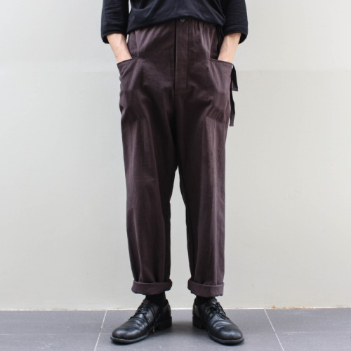 CANVAS PANTS_BROWN