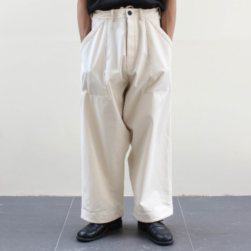WIDE FIT TROUSERS CANVAS_KINARI