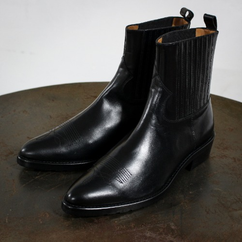 WESTERN BOOTS_BLACK HARD LEATHER